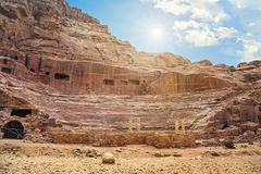 Nature of Petra, Jordan. Petra is one the New Seven Wonders of t Royalty Free Stock Photography