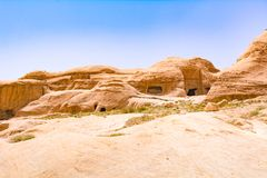Wonders of Petra. Nature of Petra, Jordan. Petra is one the New Seven Wonders of the World. The city of Petra was lost for over 1000 years Royalty Free Stock Photos
