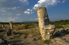Nature phenomenon Stone forest, Bulgaria / Pobiti kamani / Royalty Free Stock Photography