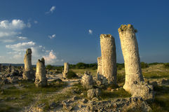 Nature phenomenon Stone forest, Bulgaria / Pobiti kamani / Royalty Free Stock Photography