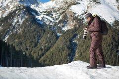 Nature photographer on the mountain Stock Photo