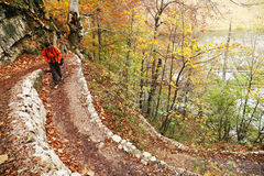Nature photographer in Plitvice National Park Stock Photos