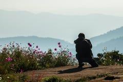 Nature photographer taking photos Stock Photos