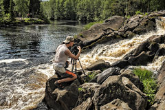 Nature photographer at work Stock Photography