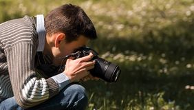 Nature photographer Royalty Free Stock Photography