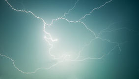 Nature photography - lightning - discharge in sky Royalty Free Stock Photo