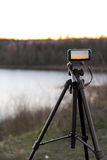 Nature photography. With a tripod Royalty Free Stock Photos