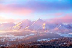 Nature pittoresque d'hiver photo stock