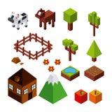 Nature in pixels design Stock Photo
