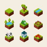 Nature in pixels design Royalty Free Stock Photos