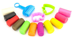 Nature Plasticine play dough modeling clay Royalty Free Stock Image