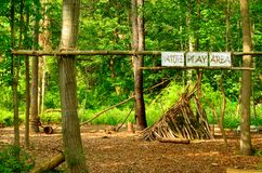 Nature Play Area Royalty Free Stock Photography