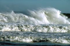 Nature power. The waves....they are impressive.......sometimes they are dangerous Royalty Free Stock Images