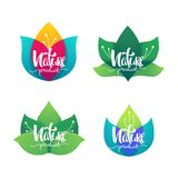 Nature Product, vector collection of simple flowers emblems  and Stock Photography