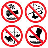 Nature protection vector signs Royalty Free Stock Photography