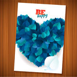 Nature rainbow leaves concept card.  Vector leaf abstract background Royalty Free Stock Images