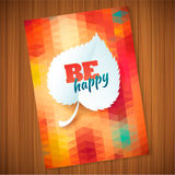 Nature rainbow leaves concept card.  Vector leaf abstract polygon background Royalty Free Stock Photo