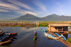 Nature. Rawa pening lake central java indonesia Stock Photo