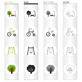 Nature, recreation, entertainment and other web icon in cartoon style.Birds, metal, plastic, icons in set collection. Stock Images