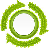 Nature recycle button Stock Images