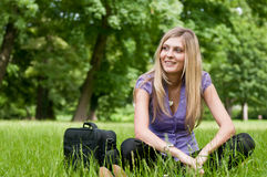 In nature - relax after work Royalty Free Stock Photo