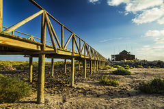 Nature reserve on the beach at Morro Jable. Stock Image