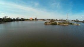 Nature reserve Chropyne pond stock video footage