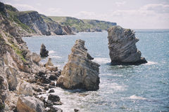 Nature reserve Dzhangul, Crimea. Black sea landscape Royalty Free Stock Photos