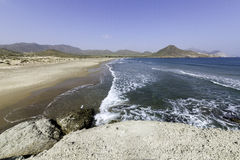 Nature reserve of Gata-Nijar`s End, Almeria. Andalusia, Spain. Royalty Free Stock Photos
