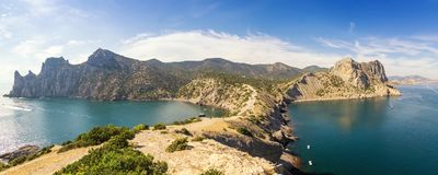 Natural reserve of mount Karaul-Oba, Crimea, city of Sudak, Black sea coast Stock Photography