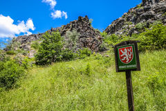 Free Nature Reserve Sign In Wild Sarka - Prague, Czech Republic Royalty Free Stock Photos - 78616368