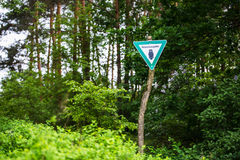 Nature reserve sign Royalty Free Stock Photo