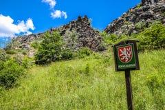 Nature Reserve Sign In Wild Sarka - Prague, Czech Republic Royalty Free Stock Photos