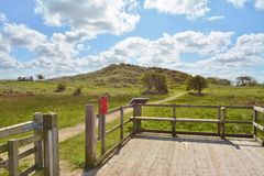 Nature Reserve. Viewing platform at Saltfleetby/Theddlethorpe Natuire Reserve,Lincolnshire Stock Image