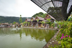 Nature resort. On Lake Batur in Bali, Indonesia Royalty Free Stock Photos
