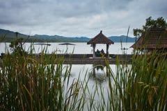 Nature resort. On Lake Batur in Bali, Indonesia Stock Photo