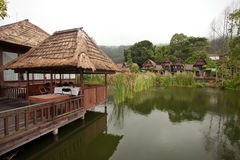 Nature resort. On Lake Batur in Bali, Indonesia Royalty Free Stock Image