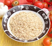 Nature rice. Some nature rice in a bowl Royalty Free Stock Photos