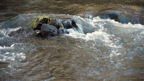 Nature river water flow rock peace serenity stock video footage