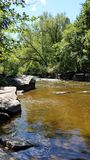 Nature. River in Wisconsin Stock Photography