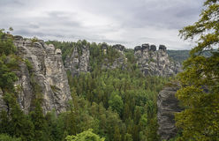 Nature rock landscape in Saxon Switzerland Gemany Royalty Free Stock Images