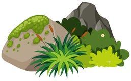 A nature rock on white background. Illustration royalty free illustration
