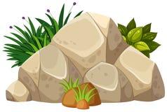 A nature rock on white background. Illustration stock illustration