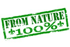From nature. Rubber stamp with text from nature inside,  illustration Stock Photography