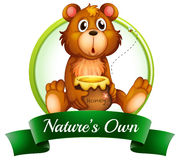 A nature's own label with a bear Royalty Free Stock Photos