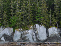 Nature's Painting. The beauty of natural mineral coloration and rock formation in the Alaskan wilderness stock images