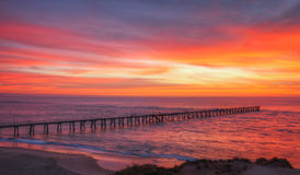 Nature's Palette. Sunset  at  the  popular  South Australian  town of Port Noarlunga Stock Images