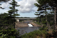 Nature's Window. Scenic view of the Rocky River Fishway in Colinet, Newfoundland Stock Photo
