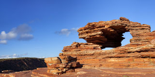 Nature's Window natural rock arch in Kalbarri NP, Western Austra Royalty Free Stock Photo