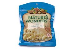 Nature`s Wonders baked cashew nuts Royalty Free Stock Photo